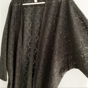 Divided H&M Perforated Leaf Open Cardigan M